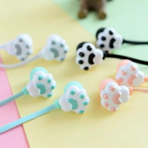 Auriculares con garra de gatito creativo