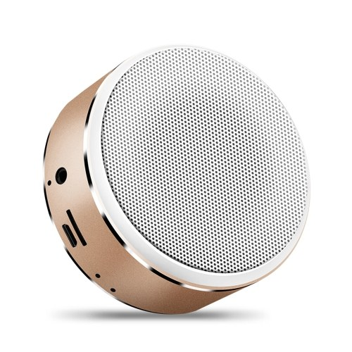 Wirelessly BT Speaker Mini Portable Subwoofer Hifi Clear Sound Quality Metal Heavy Bass Support AUX TF CardHands-Free Call USB Powered Built-in 600mah Rechargeable Batterys Sound Box Gift