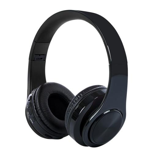 Drahtlose BT-Over-Ear- / On-Ear-Kopfhörer Faltbare Gaming-Headsets Rauschunterdrückung Wiederaufladbare Computer-Kopfhörer mit Mikrofon Super Heavy Bass-Kopfhörer mit 3,5-mm-Audiokabel TF-Karte / BT-Modus