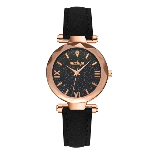 New fashion suede belt quartz watch MODIYA diamond star watch female ladies watch wholesale black