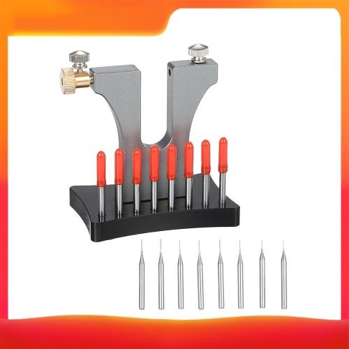 Herramienta de extracción de tornillos rotos Herramienta de reparación de relojeros Extractor de tornillos pelados Extractor de tornillos dañados con 8 pines para reloj