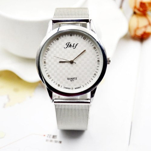 Simple Unique Ultra-thin Quartz Watch Wristwatch with Knitted Strap Band for Students Teenager Teen Girls Boys