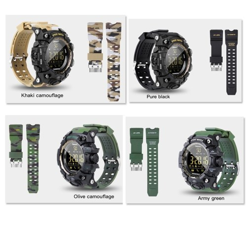 EX16S Camouflage Outdoor Sports Waterproof Intelligent Watch BT Remote Control Camera Wrist Watch
