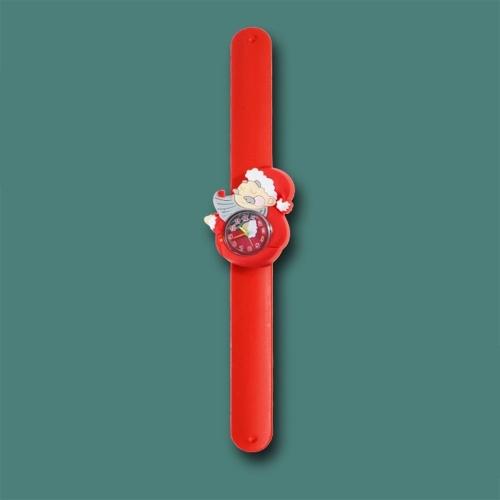 Kids Watch Silicone Slap Bracelet Christmas Wristwatch Quartz Cartoon Toy Watches Gifts for Little Child Kids