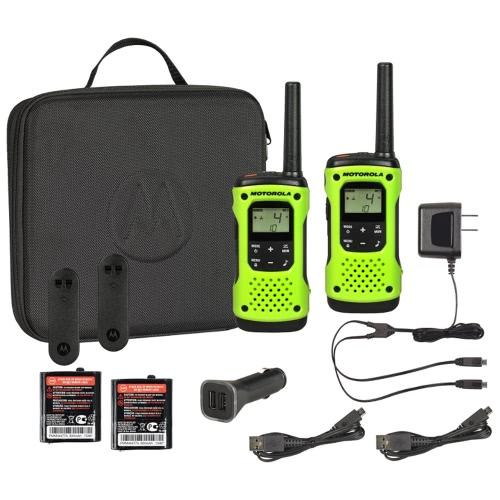 Motorola T605 VAL PACK GREEN CASE COM MANGUEIRA 35MILE RANGE