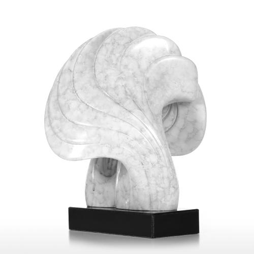 Shell mit Marmor Basis Convolute Linien Marmor Textur Feeling Oberfläche abstrakte Figur Harz Home Decor