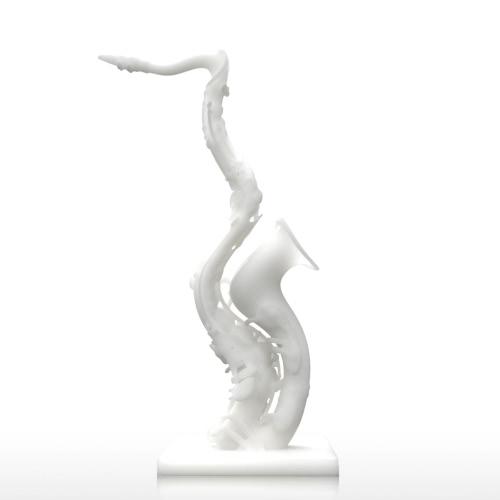 Tomfeel Deformado Saxofón 3D Impreso Escultura Decoración para el Hogar modelo exagerado
