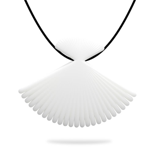 Tomfeel 3D Printed Jewelry Fan Elegant Modeling Pendant Jewelry Necklace Accessories