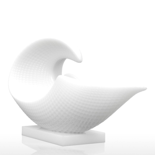 Tomfeel 3D Printed Sculpture Spiral Shell Originally Designed Home Decoration Furnishing Ornament