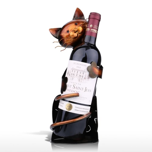 Tooarts Cat Wine Rack Élégant décor de décor de style Lovely