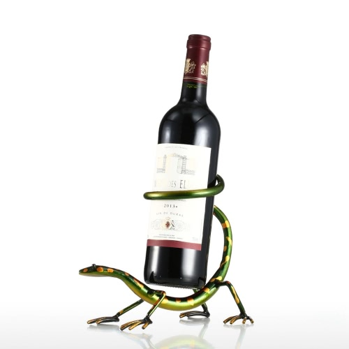 Gecko Wine Rack Tooarts Iron Sculpture Home Decoration Crafts Practical Sculpture
