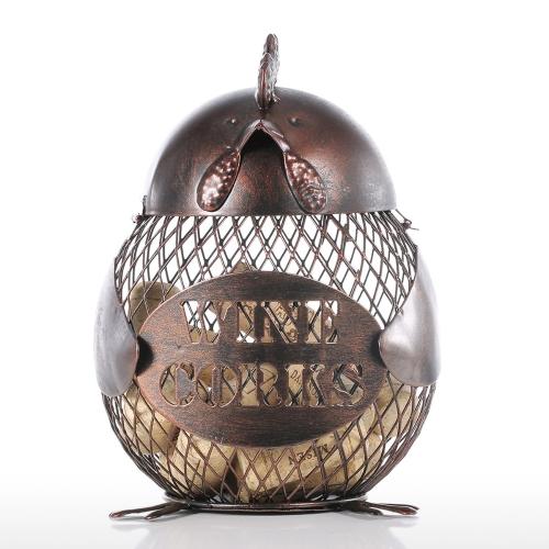 Tooarts Chick Coin Bank Handmade Practical Metal Craft Домашний декор Цвет кофе