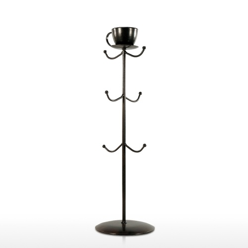 Best and cheap black Coffee Mug Stand Mug Tree Holder Mug Rack Tree Coffee Tea Cup Organizer Hanger Holder with 6 Hooks - Tooarts.com