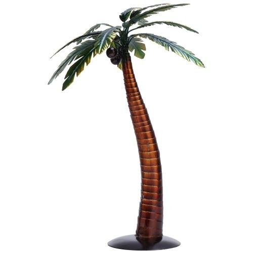Tooarts Coconut Palm Sculpture Modern Iron Ornament Taste Art Decor Handmade Craft Special Beach Plant Styling Shelf and Desk Decoration Home Decor