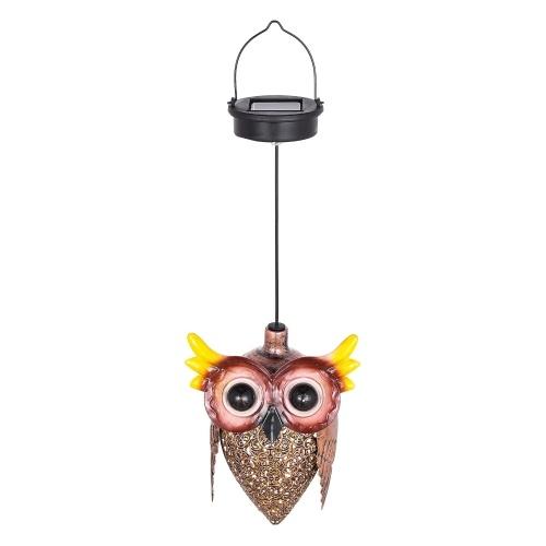Tomfeel Owl Solar Lamp Hanging Solar Lights Metal Chandeliers Animal Garden Decoration Lights Home Atmospheric Lights Party Lights