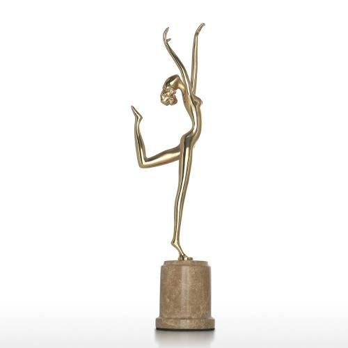 Tooarts | Kunst Dekor Qualität Messing Skulptur eine elegante Tänzerin exquisite Handwerk ideale Kunst Dekor für Haus und Büro moderne Kunst Figur Festival Geschenk