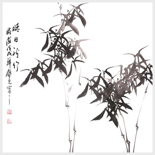 Arte de la pared de bambú pintura china tradicional para la decoración del hogar naturaleza pintura cuadro decoración regalo
