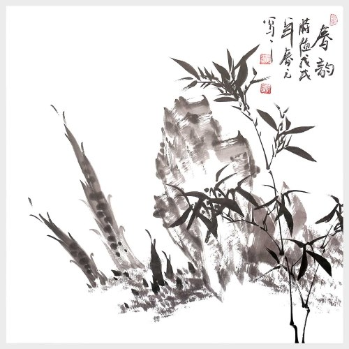The Lingering Charm of Spring Bamboo Painting Traditional Chinese Painting Wall Art for Home Decor