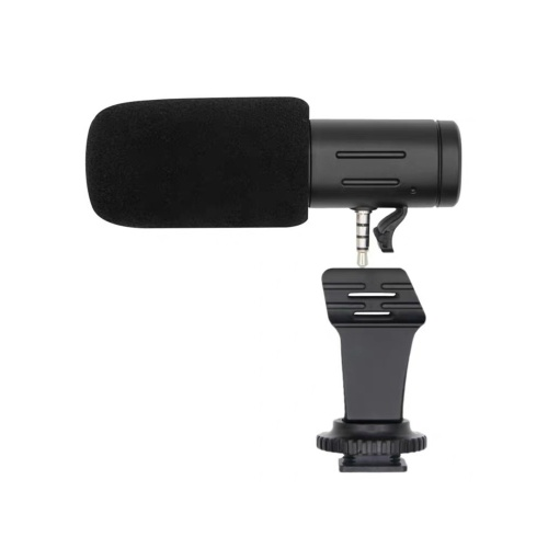 MIC-06 Recording Microphone 3.5mm Audio Plug Camera Microphone Portable Video Interview Microphone for Smartphone Camera