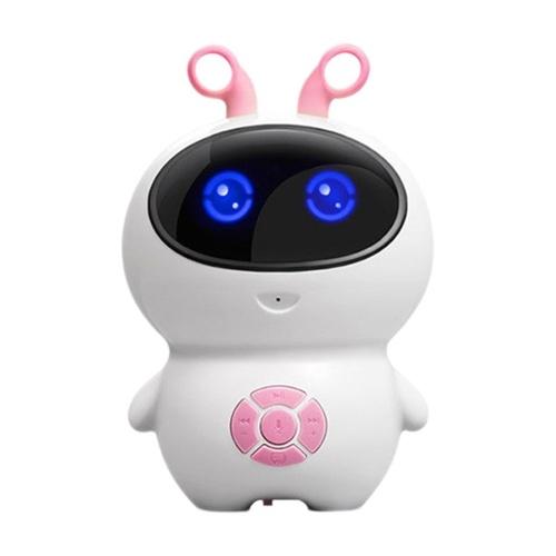 Little white intelligent robot child companion robot synchronous teaching wifi internet early education robot Little White (Pink) Chinese Version