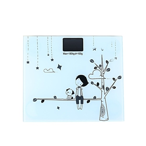 Cute Cartoon Body Weight Scale with Backlight Display Body Weighing Tool