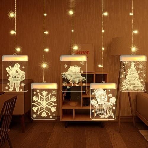 DC 5V 12W 3D Hanging Fairy LEDs String Lights Curtain Lamp