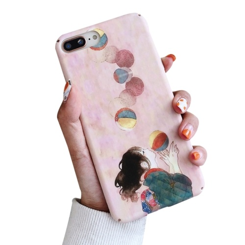 Stoßfeste Handyhülle Hard Shells Slim Matte Ganzkörper-Schutzhülle Anti-Rutsch-Handyhülle mit Pinky Cartoon Cute Girl Ballon Design für XIAOMI für HUAWEI (XIAOMI 9SE)