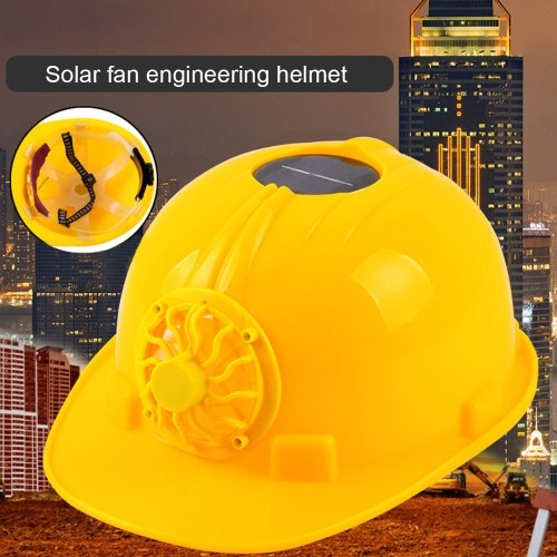 Solar Powered Cooling Fan Safety Helmet Work Hard Cap Hat Working Safety Hard Hat ConstrucitonOutdoo