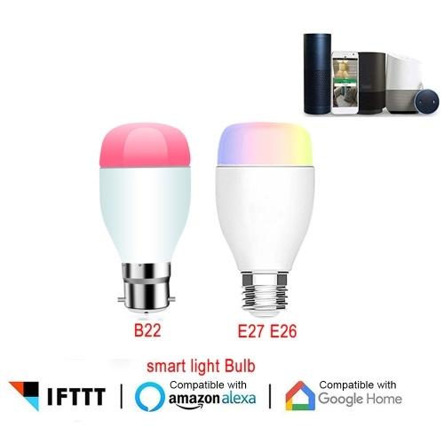 Умная лампочка работает с Alexa Google Home Светодиодные фонари с регулируемой яркостью E27 9W Wi-Fi LED Умная лампочка фото