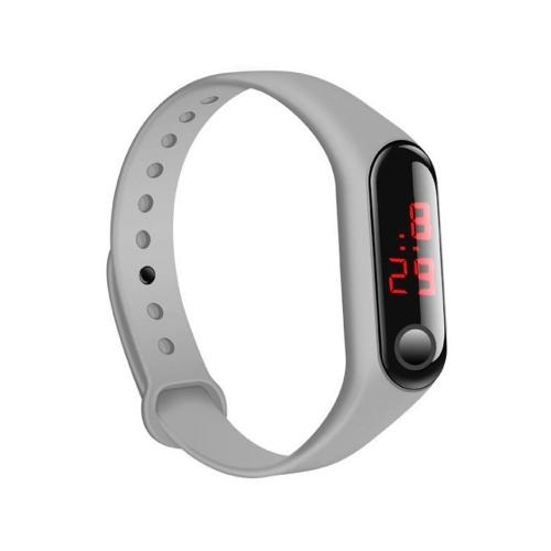 新しいLED子供3世代のキビブレスレット電子時計スポーツシリコンブレスレットプロモーションギフト工場直接卸売グレー
