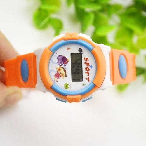 Мультфильм часы детские цифровые наручные часы день рождения сувениры поставки игрушки подарки для детей малышей