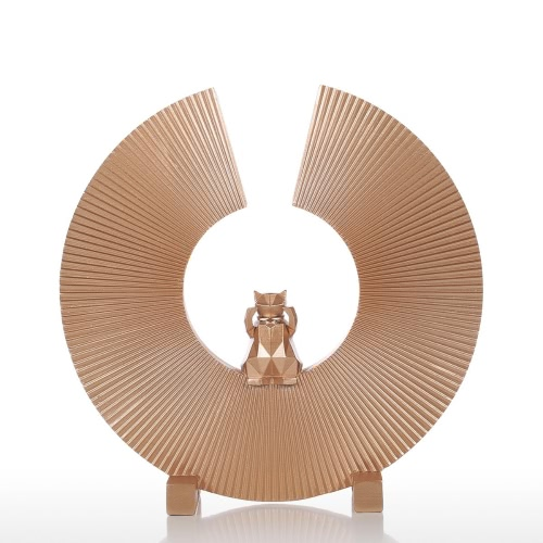 Tomfeel Fortune Cat  Resin Sculpture Modern Art Indoor Decor Statue Figurine Ornament