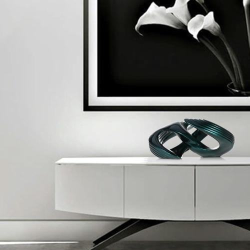 Spiral Abstract Statue and Sculpture Decorative Modern Sculpture Tabletop Decorative Figurine Modern Abstract Art Forever Sculpture Blackish Green AO97