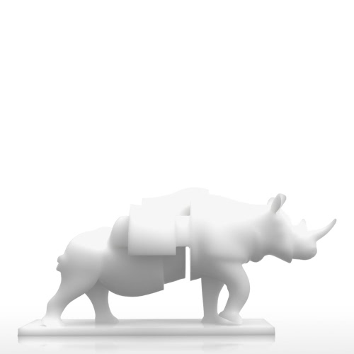 Rhino z szufladami Tomfeel 3D Printed Sculpture Home Decoration surrealizmu