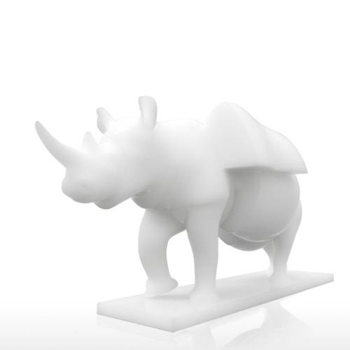 Купить Rhino Con Cajones Tomfeel 3D Escultura Impreso Decoración Del Hogar Surrealismo