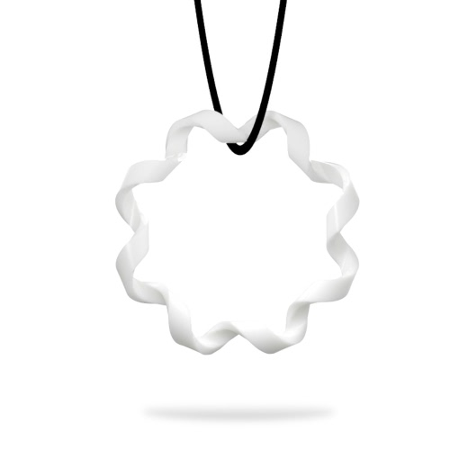 Tomfeel 3D Printed Jewelry Rhythm Elegant Modeling Pendant Necklace Accessories