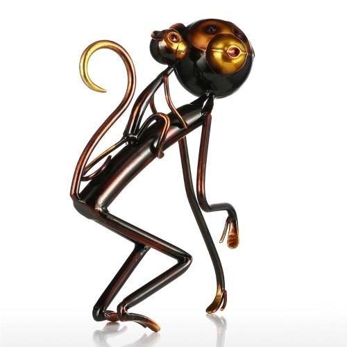 Sculpture Fer Singe Carrys bébé Tooarts Métal Sculpture Résumé Sculpture Sculpture moderne Décoration Ornement de cadeau