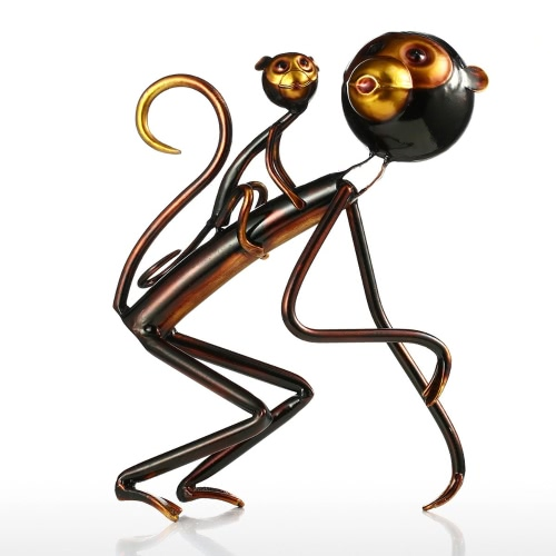 Deux petits singes Tooarts Sculpture en fer Sculpture moderne
