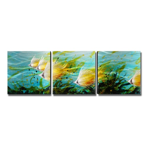 Tooarts Colorful Fishes Wall Art Modern Painting Home Decoration 5 Panels Multicolor