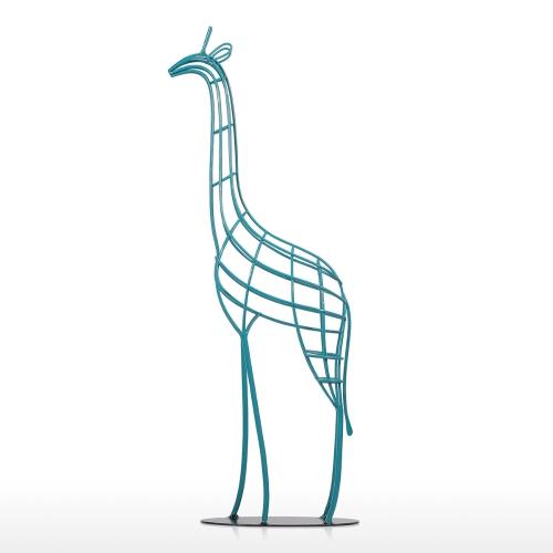 Giraffe Iron Statue 20.8 inches Handmade Iron African Giraffe Statue Sculpture Animal Figurine