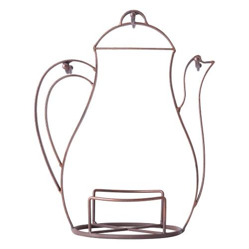 Tasse de café en forme de bouilloire Tasse d'arbre Comptoir ou Pantry Vintage Métal fil arbre Stand pour les verres à café et tasses