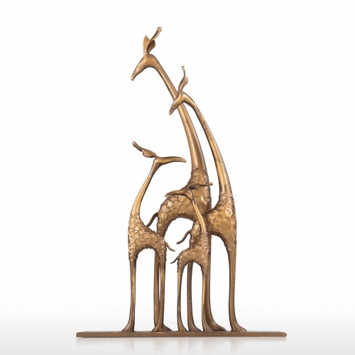 Giraffe Family Giraffe with Baby Collectible Wildlife Figurine Sculpture Statue Tabletop Accent Sculpture Centerpiece