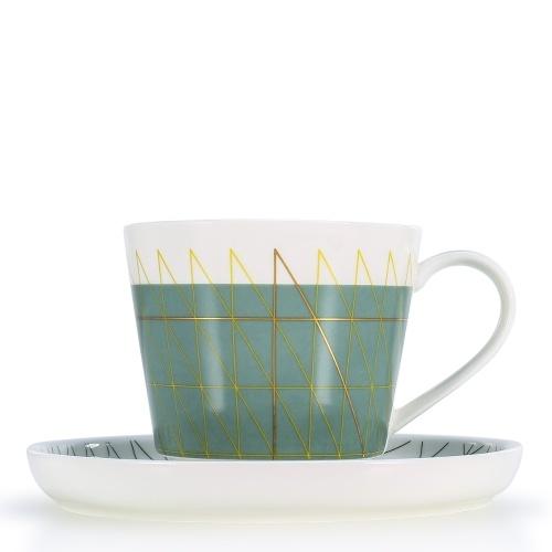 Taza de café y platillo Juego de taza de té y platillo Juego de 2 tazas de café o café expreso para microondas