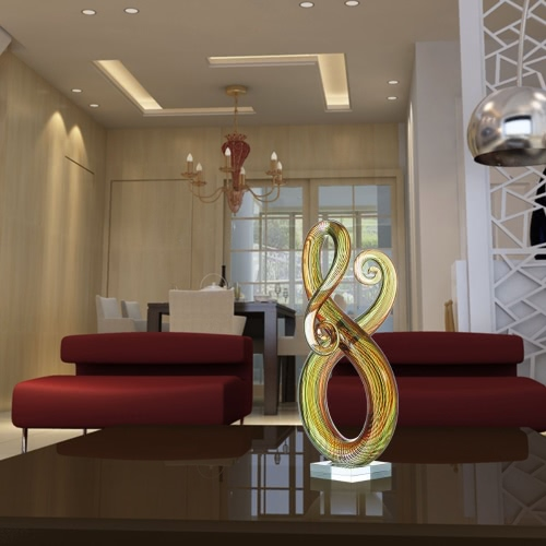 Купить Ornamento De La Escultura Abstracta Tooarts Cristal Envolvente Decoración Del Hogar Del Arte Del Regalo De La Decoración