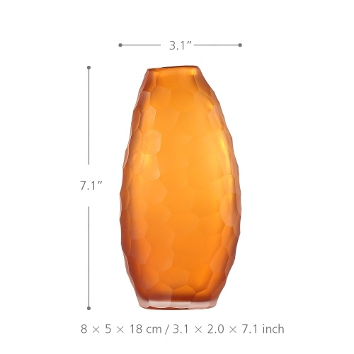 Высокая оранжевая стеклянная ваза Идеальный подарок для свадьбы и особого случая использования для роз Цветочные композиции Стеклянная ваза Наполнитель фото