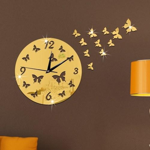 Adesivo da parete creativo con specchio a forma di farfalla
