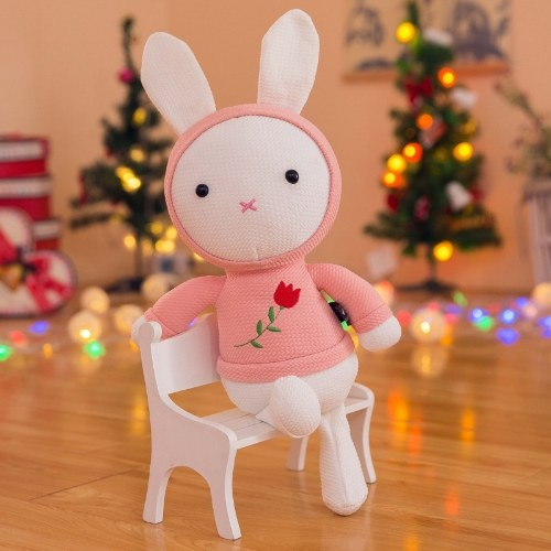 New cute plush toy rose rabbit doll