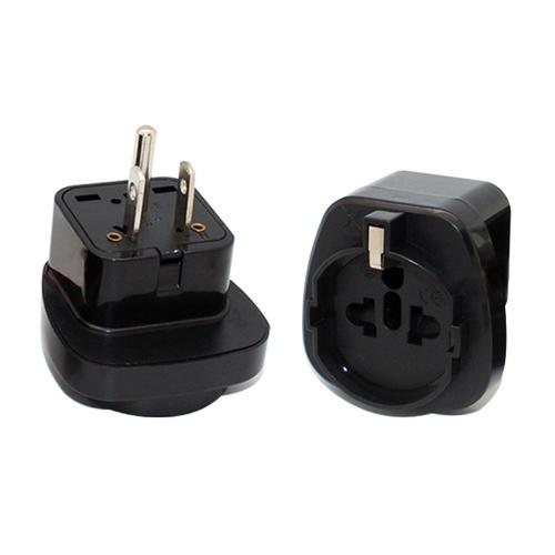 US standard three plug converter United States Japan universal conversion socket European regulation to the US standard adapter black