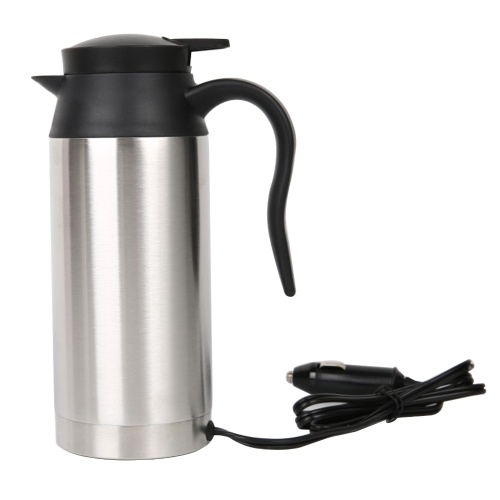 12V 750ml Stainless Steel Car Electric Kettle Heating Insulation Car Mug Travel Pot
