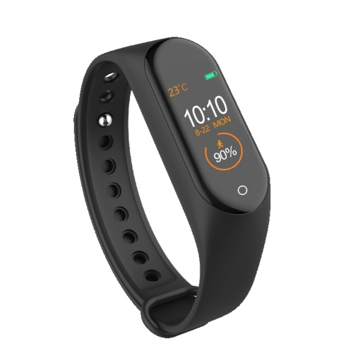 M4 New Smart Armband Life Waterproof Line Charge - Schwarz